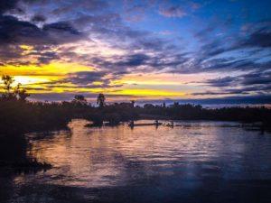 Surreal sunsets at Don Det, 4000 Islands