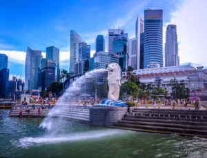 The famous Merlion
