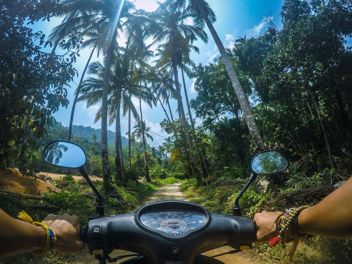 Riding towards Paradise Beach